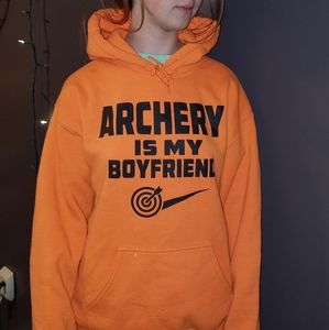 "Orange Hoodie ""Archery is my Boyfriend"""